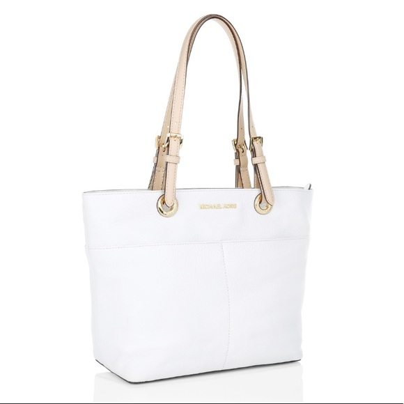 d8ed411e2225 ... canada michael kors bedford tz pocket tote optic white 6eeed e761d